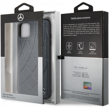 Чехол CG Mobile Mercedes Bow Quilted/perforated Hard Leather для iPhone 11 Pro Max, цвет Синий (MEHCN65DIQNA)