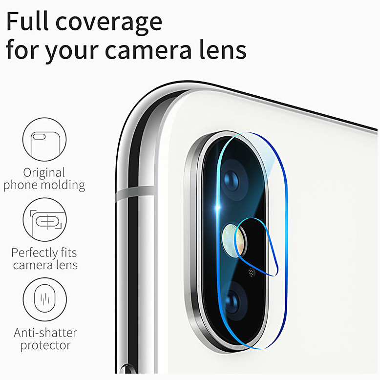 Защитное стекло Baseus Camera Lens Glass Film для iPhone X/XS/XS Max ( SGAPIPHX-JT02) купить в магазине Эврика