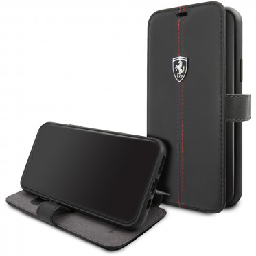 Чехол-книжка CG Mobile Ferrari Heritage W Booktype Leather для iPhone 11 Pro, цвет Черный (FEHDEFLBKSN58BK)