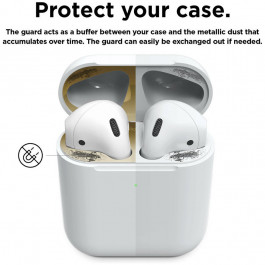 Защитные пластины Elago A2 Dust Guard для зарядного кейса AirPods 2 Wireless, цвет Золотой (EAP2-GUARD-GD-2S)