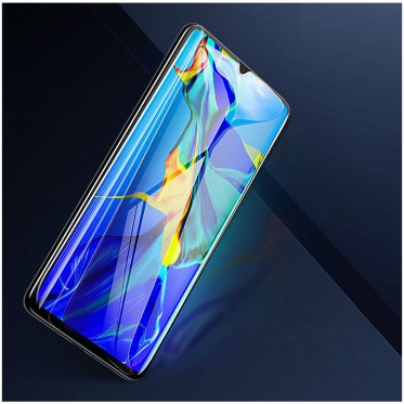 Защитное стекло Baseus 0.3mm All-screen Arc-surface Anti-bluelight Tempered Glass Film для Huawei P30, цвет Черный (SGHWP30-KB01)