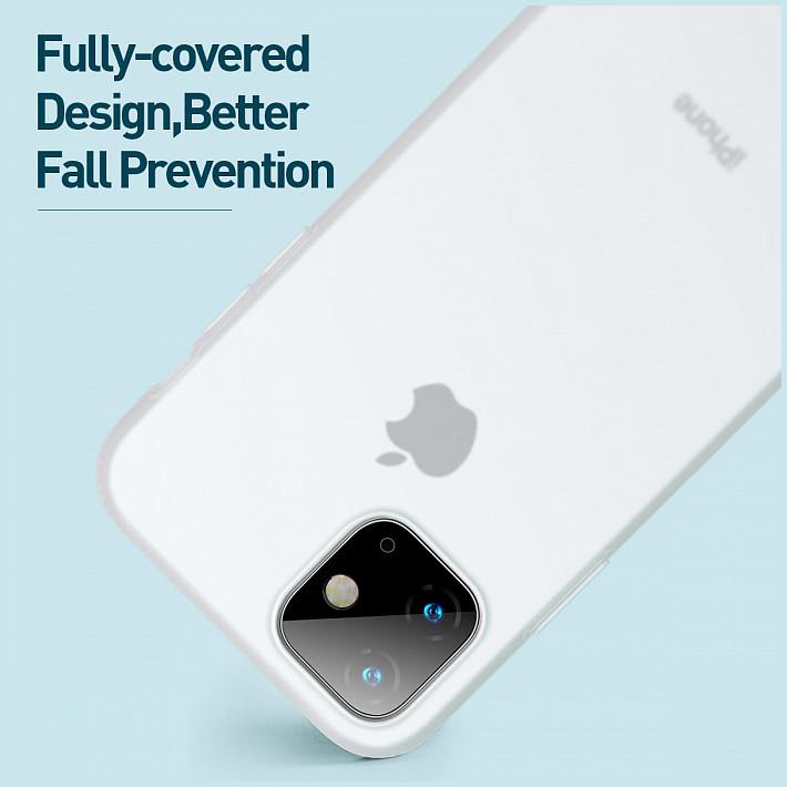 Чехол Baseus Jelly Liquid Silica Hard Gel для iPhone 11, цвет  Прозрачно-белый (WIAPIPH61S-GD02) купить в магазине Эврика