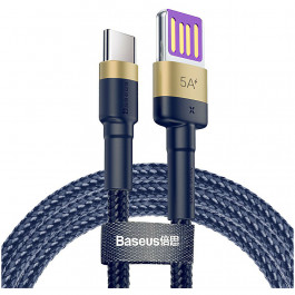 Кабель Baseus Cafule HW Quick Charging Data cable USB For Type-C 40W 1 м, цвет Золотой/Синий (CATKLF-PV3)