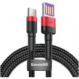 Кабель Baseus Cafule HW Quick Charging Data cable USB For Type-C 40W 1 м, цвет Красный/Черный (CATKLF-P91)